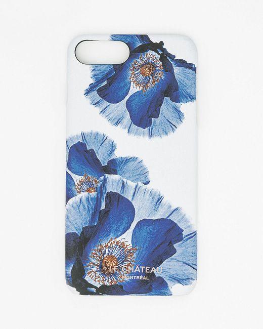 Le Chateau - Blue Floral Print Case For Iphone 6/6s - Lyst
