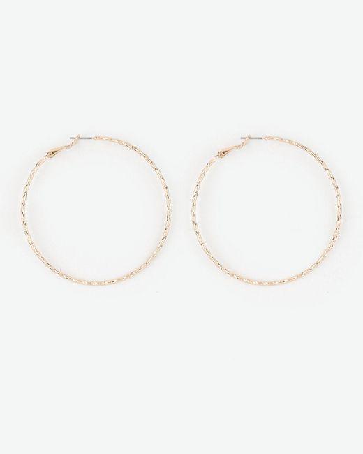 Le Chateau - Metallic Metal Hoop Earrings - Lyst
