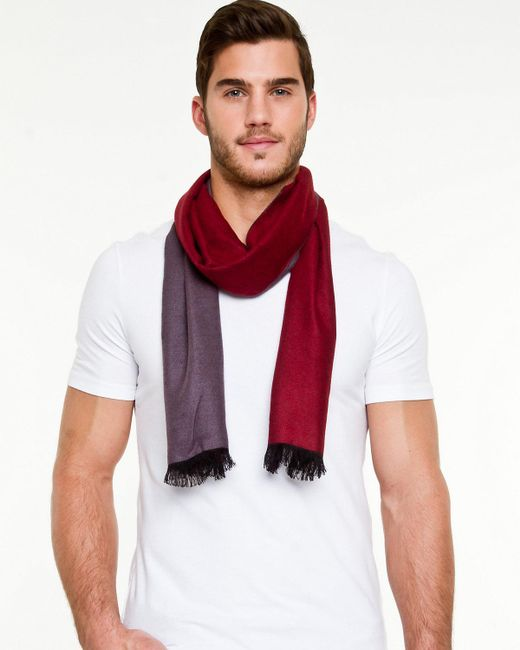 Le Chateau - Red Reversible Scarf for Men - Lyst