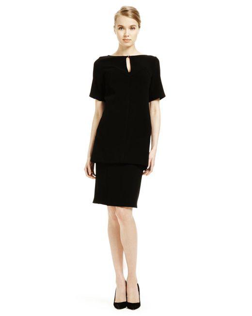 Lela Rose - Black Pencil Skirt - Lyst