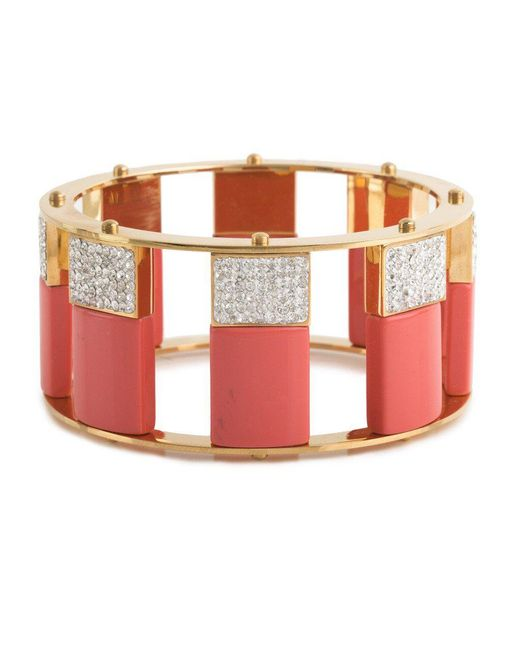 Lele Sadoughi - Pink Pave Tall Stackable Bangle - Lyst