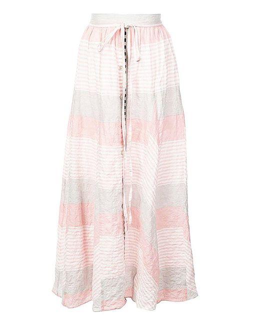 Lemlem - Pink Dera Godet Skirt - Lyst