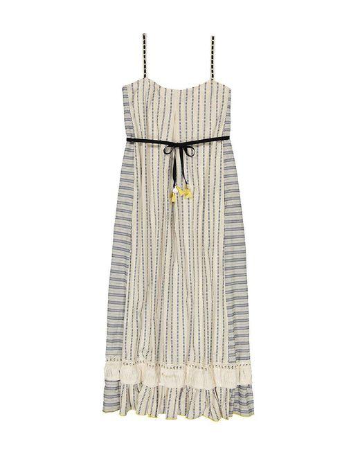 Lemlem - White Ami Fringe Maxi Dress - Lyst