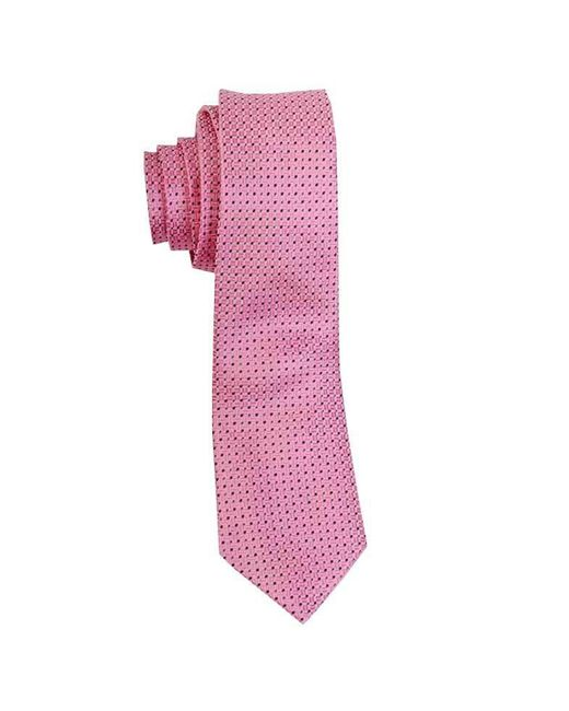 John Victor | Geo Squares Neck Tie (pink) for Men | Lyst