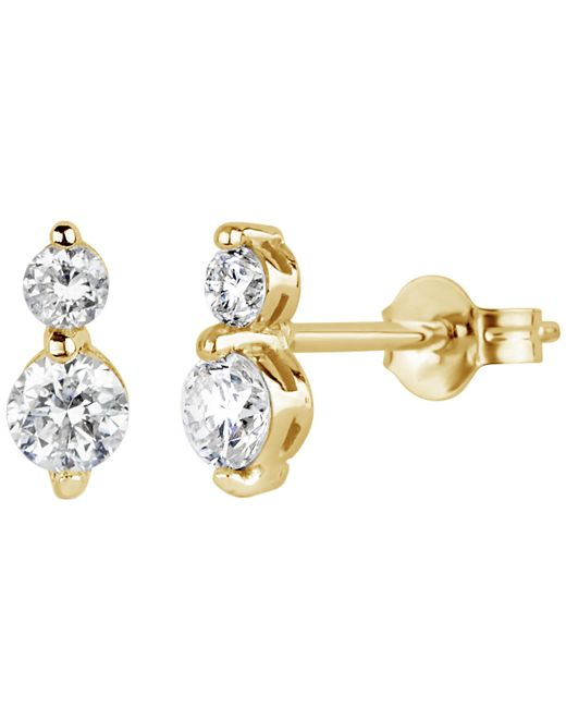 Dinny Hall - Metallic Gold Shuga Double Diamond Stud Earrings - Lyst