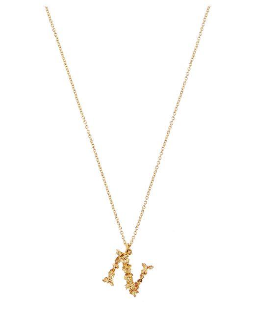Alex Monroe - Metallic Gold-plated Floral Letter N Alphabet Necklace - Lyst