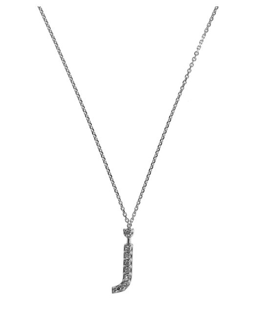 KC Designs | Metallic White Gold Diamond Letter J Necklace | Lyst