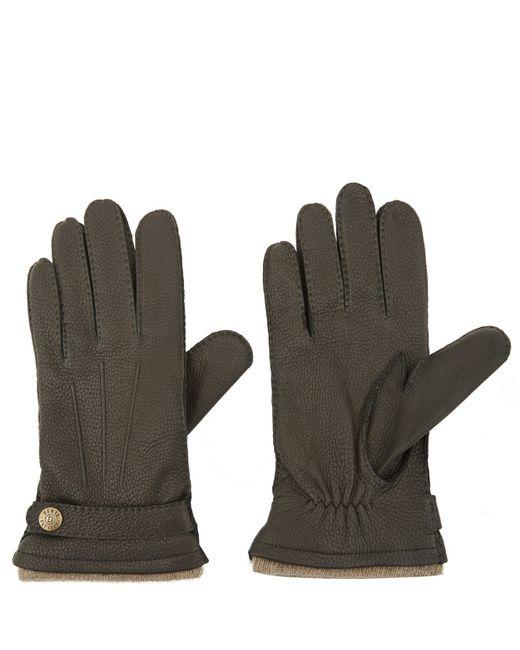 Dents   Black Cashmere Lined Deerskin Gloves   Lyst