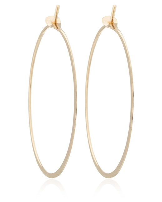 Melissa Joy Manning | Metallic Extra Large Gold Flat Forged Hoops | Lyst