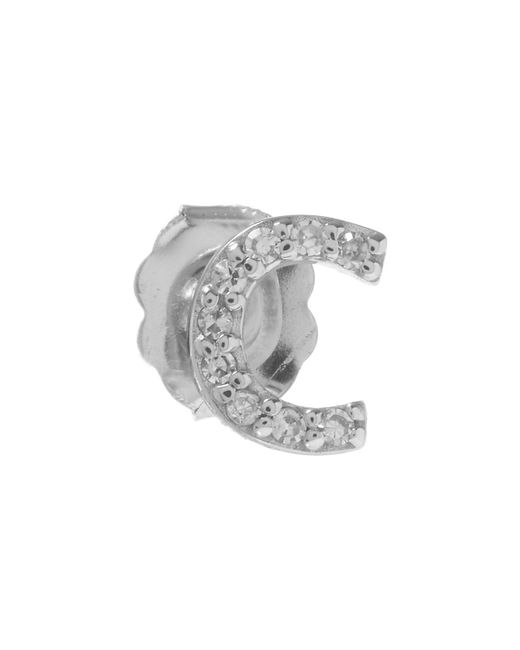 KC Designs | White Rose Gold Diamond C Single Stud Earring | Lyst