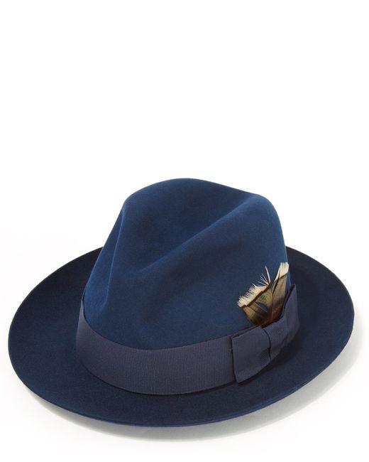 7e737b1e744 Christys blue kempton felt trilby hat in blue for men lyst jpg 520x650 Felt  hats for