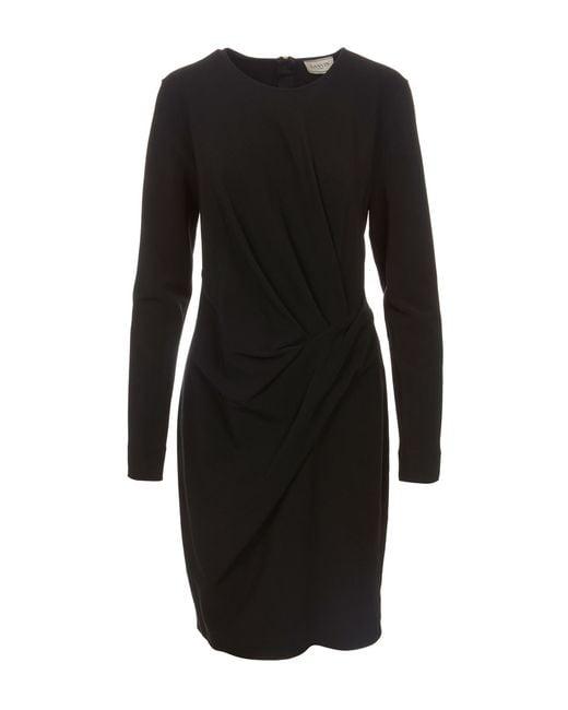 Lanvin | Black Short Dress | Lyst