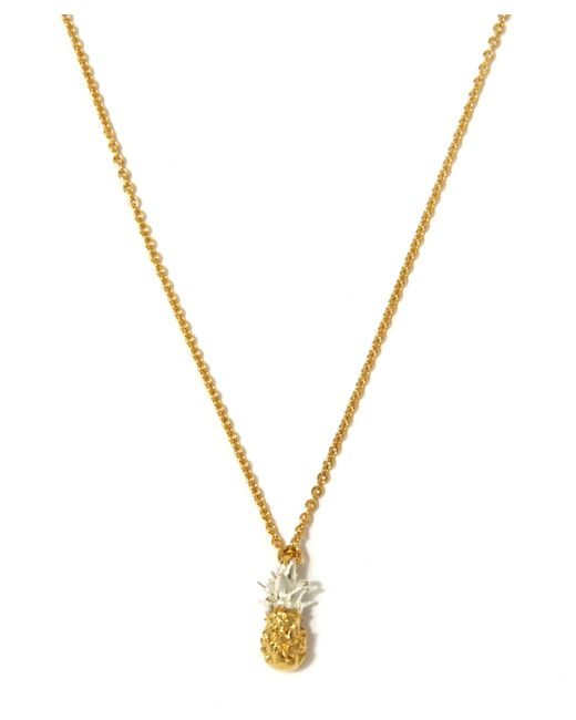 Alex Monroe | Metallic Gold Plated Baby Pineapple Necklace | Lyst