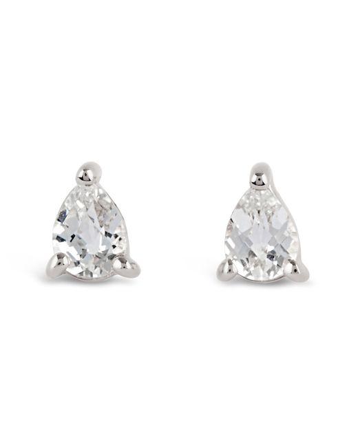 Dinny Hall - Metallic Silver Gem Drops White Topaz Pear Stud Earrings - Lyst
