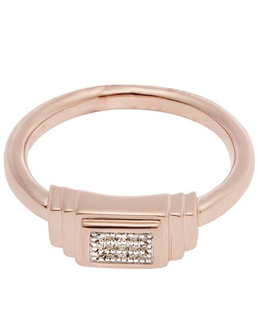 Monica Vinader   Multicolor Rose Gold-plated Baja Deco Diamond Ring   Lyst