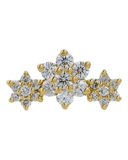 Maria Tash - Metallic Diamond Flower Garland Threaded Stud Earring - Lyst
