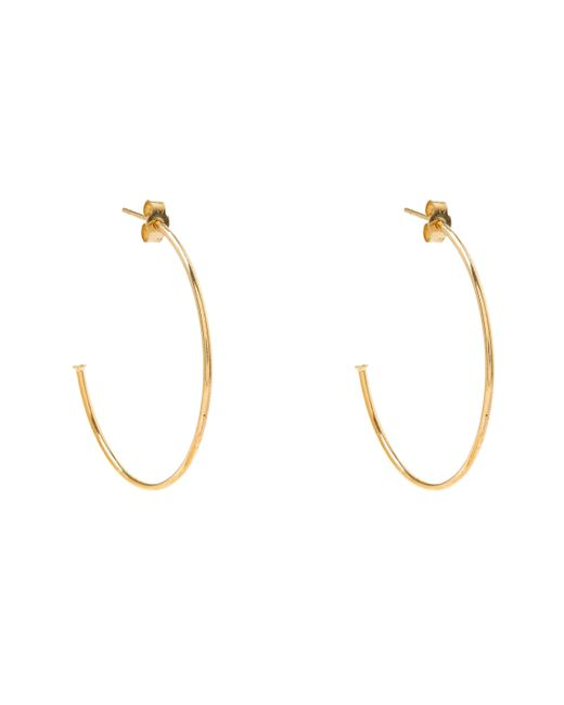 Annina Vogel - Metallic Gold Diamond Hoop Earrings - Lyst