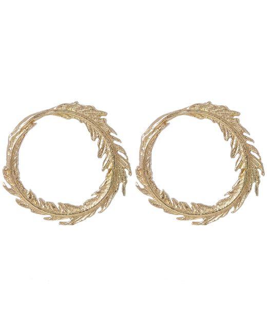 Alex Monroe   Metallic Gold Plume Loop Stud Earrings   Lyst