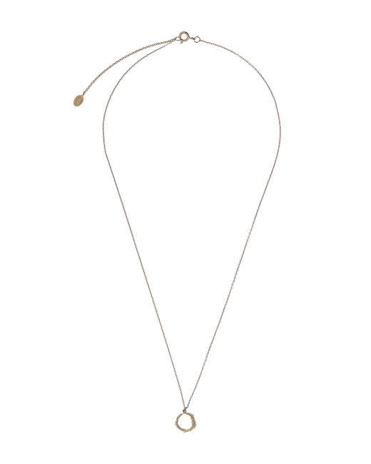 Alex Monroe | Metallic Gold Plume Loop Necklace | Lyst