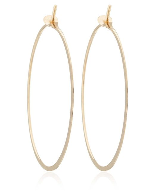 Melissa Joy Manning - Metallic Extra Large Gold Flat Forged Hoops - Lyst