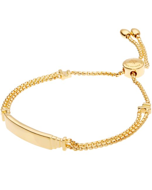 Monica Vinader - Metallic Gold-plated Baja Deco Id Bracelet - Lyst