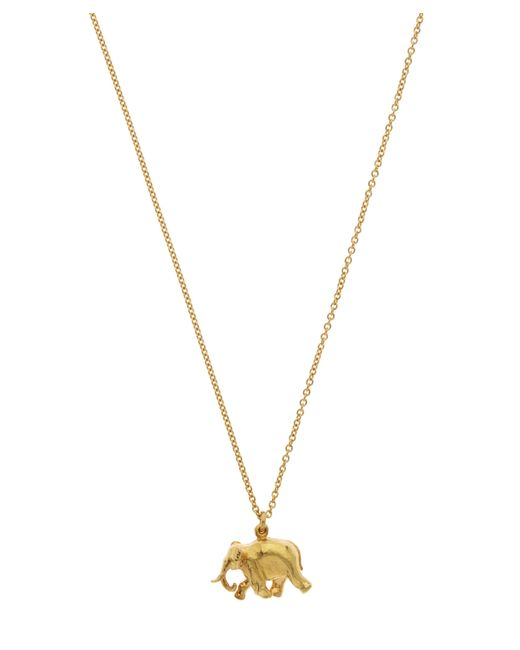 Alex Monroe - Metallic Gold-plated Indian Elephant Pendant Necklace - Lyst