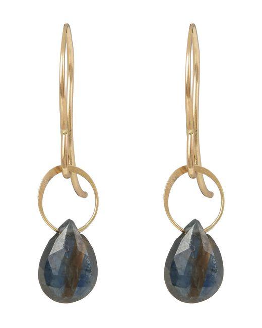 Melissa Joy Manning | Metallic Small Gold And Green Sapphire Drop Earrings | Lyst
