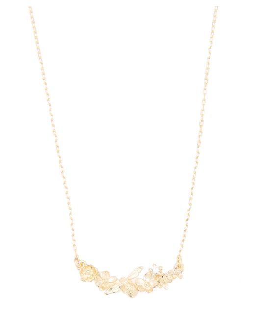 Alex Monroe - Metallic Gold In-line Floral Curve Necklace - Lyst