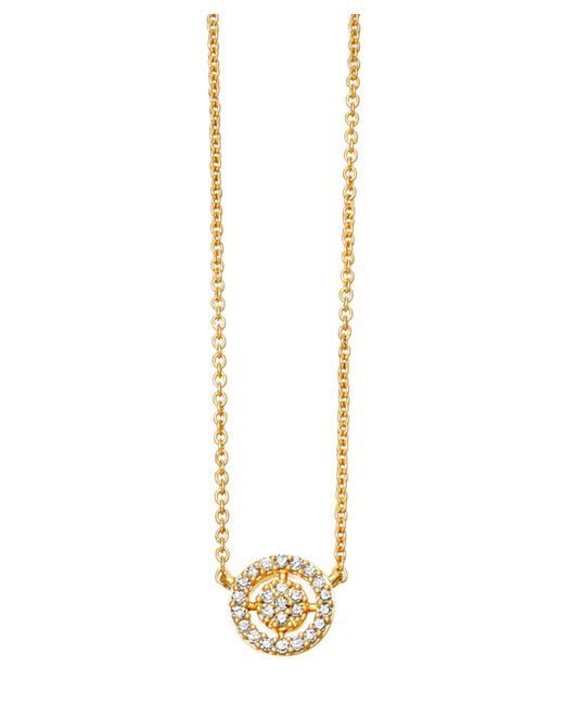 Astley Clarke - Metallic Gold Mini Icon Aura Pendant Necklace - Lyst
