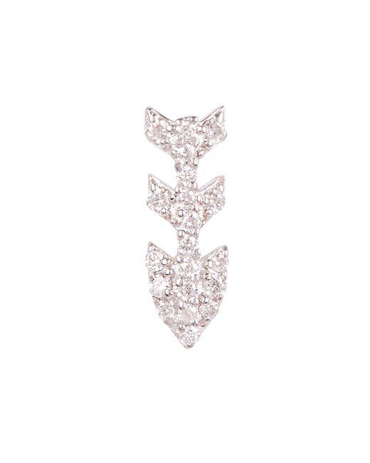 Kismet by Milka - Metallic Gold Three-arrow White Diamond Single Stud Earring - Lyst