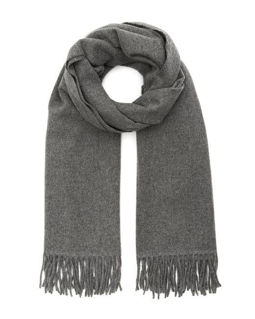 Acne - Gray Canada Fringed Wool Scarf - Lyst