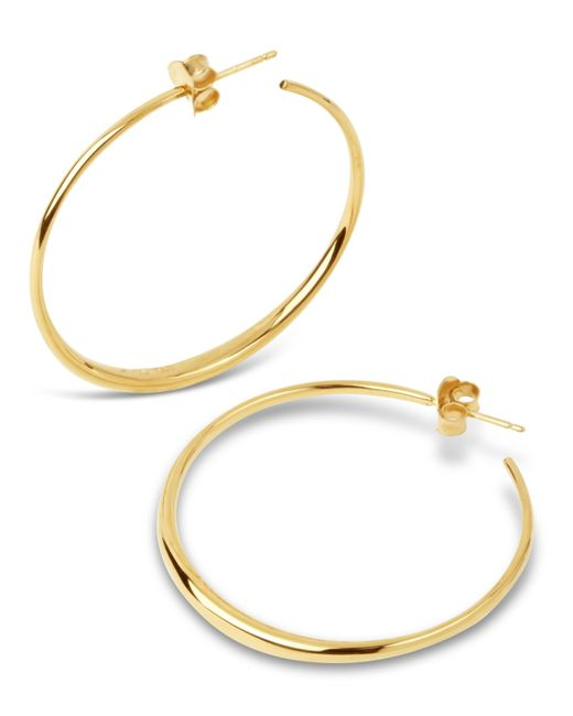 Dinny Hall - Metallic Gold Vermeil Signature Medium Hoop Earrings - Lyst