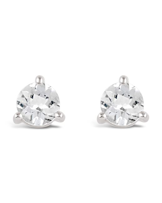 Dinny Hall - Metallic Silver Gem Drops White Topaz Round Stud Earrings - Lyst