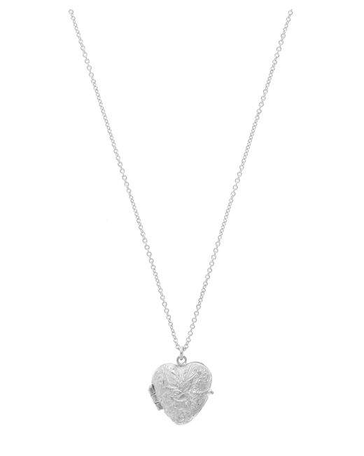 Alex Monroe - Metallic Sterling Silver Victorian Style Swallow Engraved Locket Necklace - Lyst