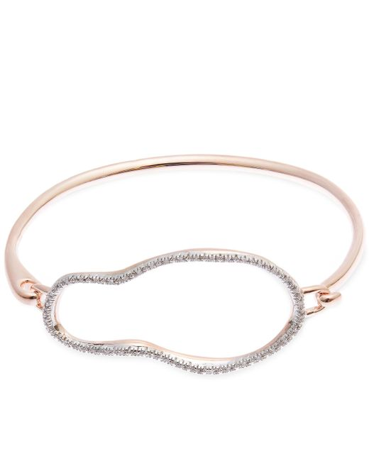 Monica Vinader | Metallic Rose Gold-plated Riva Large Pod Hook Bangle | Lyst