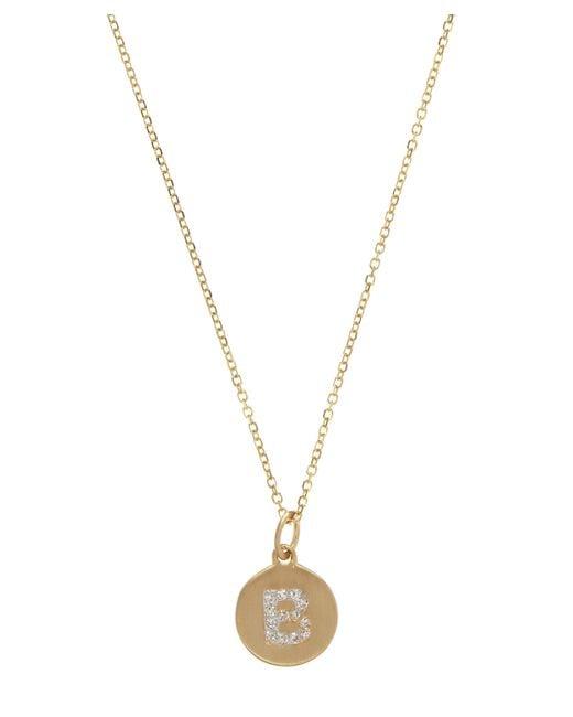 KC Designs - Metallic Gold And Diamond Letter B Disc Pendant Necklace - Lyst