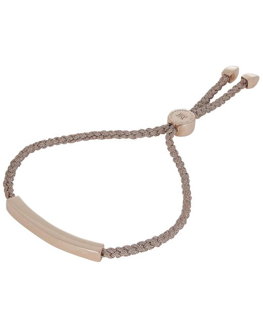 Monica Vinader - Multicolor Rose Gold Vermeil Linear Cord Friendship Bracelet - Lyst