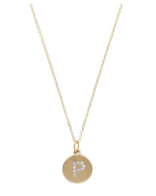 KC Designs - Metallic Gold And Diamond Letter P Disc Pendant Necklace - Lyst