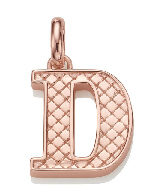 Monica Vinader - Multicolor Rose Gold-plated Alphabet Pendant D - Lyst