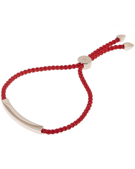 Monica Vinader - Multicolor Rose Gold-plated Linear Red Cord Friendship Bracelet - Lyst