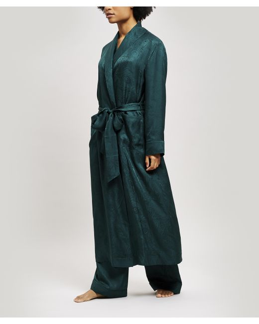Liberty Green Hera Silk Jacquard Long Robe