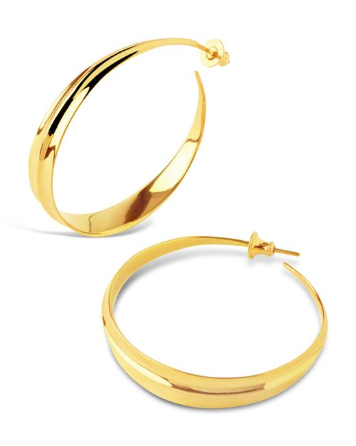 Dinny Hall - Metallic Gold-plated Lotus Large Hoop Earrings - Lyst
