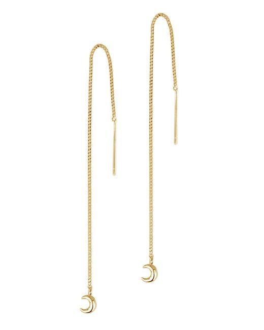 Dinny Hall - Metallic Gold-plated Bijou Moon Chain Drop Earrings - Lyst