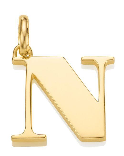 Monica Vinader - Metallic Gold Capital N Pendant - Lyst
