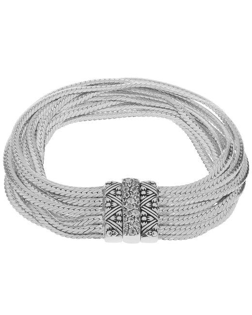 Stephen Dweck | Metallic Silver And Rainbow Moonstone Multi Curb Chain Bracelet | Lyst
