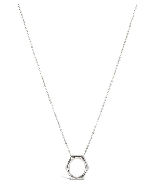 Dinny Hall - Metallic Bamboo Round Slide Pendant Necklace - Lyst