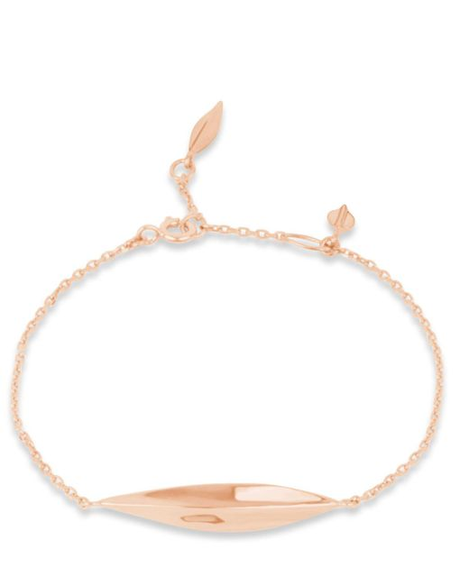 Dinny Hall   Pink Rose Gold-plated Lotus Bracelet   Lyst