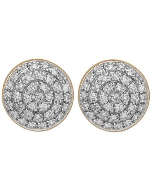 Monica Vinader | Metallic Gold Vermeil Diamond Ava Button Stud Earrings | Lyst