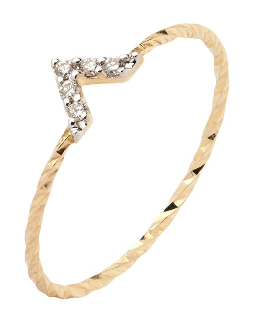 Maria Black | Metallic Gold Diamond Cut Viva Ring | Lyst