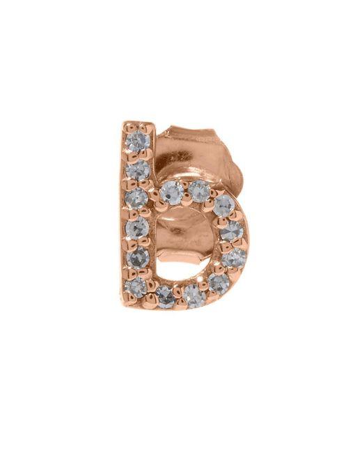 KC Designs - Multicolor Rose Gold Diamond B Single Stud Earring - Lyst
